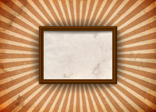 Grungy frame with rays Royalty Free Stock Photography