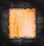 Grungy frames. With modern technology theme background. Eps10 layered file Royalty Free Illustration
