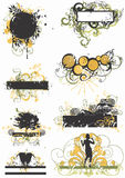 Grungy frames. Illustration of grungy decorative frames Stock Images