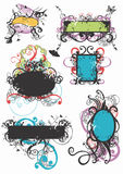 Grungy frames. Grungy illustration of decorative frames Stock Photography