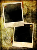 Grungy frames. Background in grunge style with polaropid frames Royalty Free Stock Image