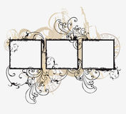 Grungy frames. Illustration of grungy frames and decorative patterns Royalty Free Stock Image
