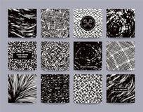 Grungy Freehand черно-белые шаблоны дизайна бесплатная иллюстрация