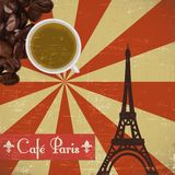 Grungy French coffee background Royalty Free Stock Photos