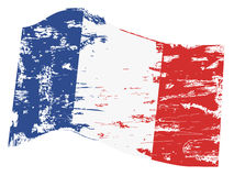 Grungy french flag Stock Photography