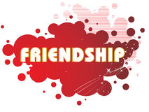 Grungy friendship day illustration Stock Photos