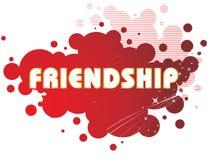 Grungy friendship day illustration Stock Photos