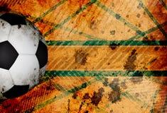 Grungy Fußballhintergrund Lizenzfreies Stockbild
