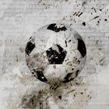 Grungy Fußballkugelhintergrund Stockfotos