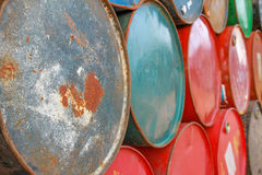 Grungy fuel tank background Stock Image