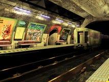 Grungy gångtunnel Arkivfoton