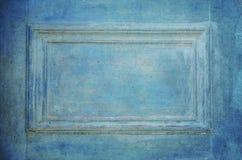 Grungy gammal blå dörrcloseup Royaltyfri Fotografi