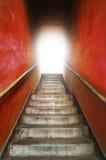 grungy gammal trappa Arkivbilder
