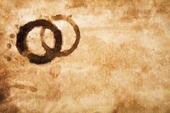 grungy gammala paper fläckar för kaffe Arkivbilder
