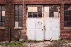 Grungy Garage Door Stock Image
