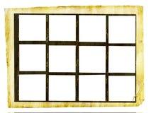 Grungy gedrucktes Kontaktblatt Stockfotografie