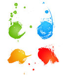 Grungy gekleurde banners vector illustratie
