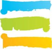 Grungy gekleurde banners klaar voor uw tekst stock illustratie