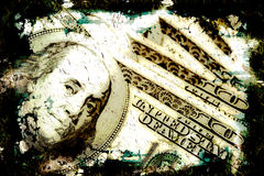 Grungy Geld-Hintergrund Lizenzfreies Stockbild