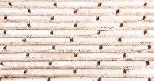 Grungy gemalte Backsteinmauerbeschaffenheit als Hintergrund Gebrochener konkreter Weinlesebacksteinmauerhintergrund, alte gemalte Stockfotografie