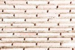 Grungy gemalte Backsteinmauerbeschaffenheit als Hintergrund Gebrochener konkreter Weinlesebacksteinmauerhintergrund, alte gemalte Stockbild