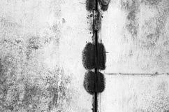Grungy geroeste metaaloppervlakte in zwart-wit Royalty-vrije Stock Foto