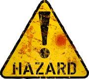 Grungy gevaar, risico, het pictogram van de gevaarswaarschuwing, Internet-veiligheid stock illustratie