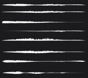 Grungy, geweven lijnen voor schadegevolgen Reeks van bevlekt, vlek royalty-vrije illustratie