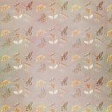 Grungy geweven uitstekende achtergrond van het vlinderpatroon Stock Afbeelding