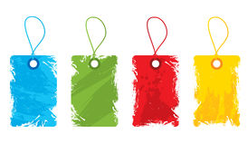 Grungy gift tags Royalty Free Stock Photos