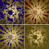 Grungy golden backgrounds - set - vector Royalty Free Stock Image