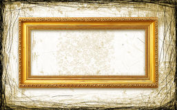 Grungy Golden Frame Royalty Free Stock Photo