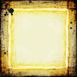 Grungy golden frame. With border and splatter, excellent texture Royalty Free Stock Photos