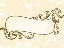 Grungy golvend uitstekend sepia frame royalty-vrije illustratie