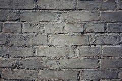 Grungy grå bakgrund av tegelstenar och gammal väggtextur för cement Arkivfoto