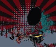 Grungy gramophone illustration Royalty Free Stock Photo