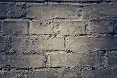 Grungy gray background of bricks and cement old wall texture. Grungy gray background of bricks and cement old wall texture with light spot in the center. It is Royalty Free Stock Images