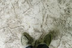 Grungy gray background of natural cement Stock Photo