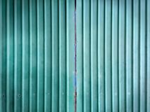 Grungy Green Corrugated Metal Wall Texture. Background Stock Image
