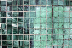Grungy Green Fayance Details Stock Photo