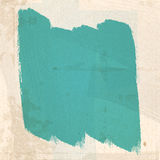 Grungy green paint Strokes Stock Photo