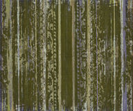 Grungy green scroll work wood stripes Stock Photography