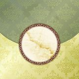 Grungy green Victorian vintage emblem Royalty Free Stock Photo