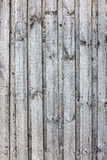 Grungy grey wooden plank fence with nails Stock Photos