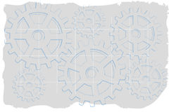 Grungy grigio sbiadetto degli attrezzi di semitono blu di abbozzo Immagini Stock