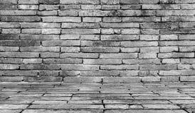 Grungy grijze Achtergrond van de bakstenen muurtextuur Stock Foto