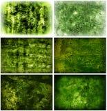 Grungy Groene Achtergronden Royalty-vrije Stock Afbeelding