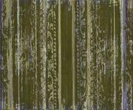 Grungy groene houten strepen van het rolwerk Stock Fotografie