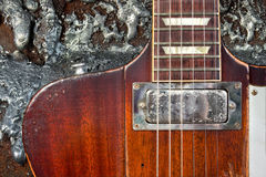 Grungy Guitar Royalty Free Stock Image