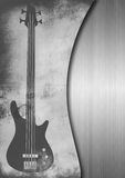 Grungy guitar background Stock Photo
